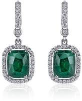 Penny Preville 18K White Gold with Emerald & Diamond Earrings