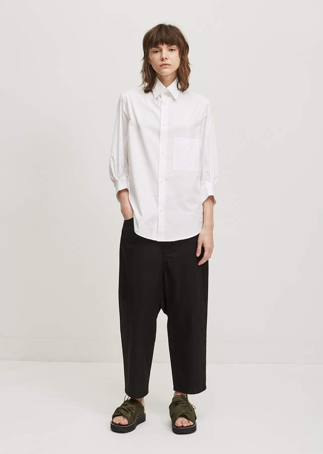 Y's Cotton Button Down Shirt White