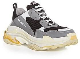 Balenciaga Men's Triple S Color Block Low Top Sneakers