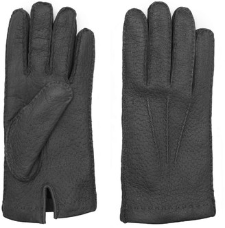 Dalgado Handmade Peccary Leather Gloves Black Ciro