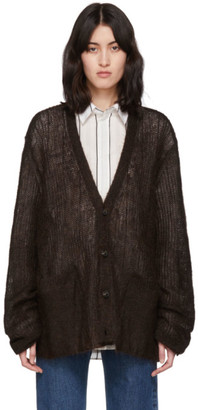 Maison Margiela Brown Transparent Cardigan