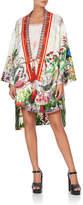 Camilla Tie-Front Printed Silk Caftan