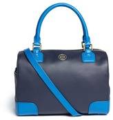 Robinson colour-block middy satchel