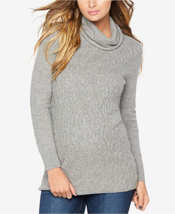 A Pea in the Pod Maternity Cable-Knit Sweater