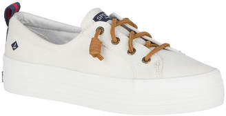 Sperry Crest Vibe Platform Canvas STS84190 White Sneaker