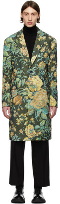 Givenchy Green Floral Over Coat