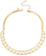 INC International Concepts M. Haskell for Gold-Tone Imitation Pearl Collar Necklace, Created for Macy's