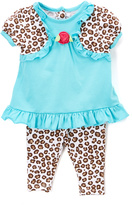 Buster Brown Blue & Leopard Tunic & Pants - Infant