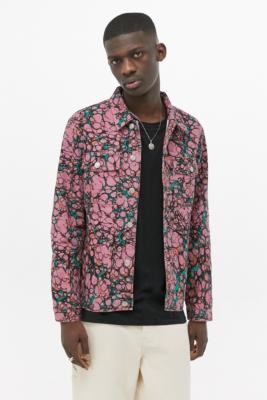 Obey Botch Coral Denim Jacket - Orange L at Urban Outfitters