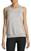 Beyond Yoga x kate spade new york terry bow cutout muscle tank, light gray