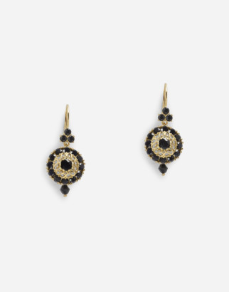 Dolce & Gabbana Hook-Fastening Earrings With Black Sapphires