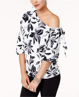 Alfani Printed One-Shoulder Top, Created for Macy's