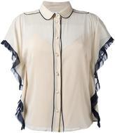RED Valentino piped trim blouse - women - Silk/Spandex/Elastane - 40