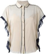 RED Valentino piped trim blouse
