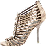 Tory Burch Embossed Caged Sandals