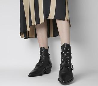 AllSaints Katy Lace Up Boots Black