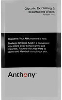 Anthony Logistics For Men Glycolic Exfoliating and Resurfacing Wipes (1ct)