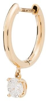 Anita Ko 18kt Gold Drop-Diamond Hoop Earring