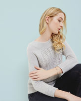 TOFYA Embellished stitch detail sweater
