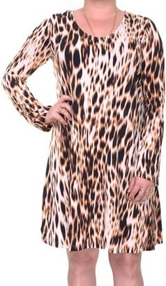 Karen Kane Women's Blurred Cheetah Taylor Dress
