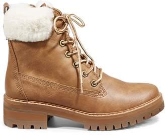 Madden-Girl Winnit Faux Fur-Trim Combat Boots