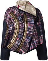 Antonio Marras check quilted taffeta jacket