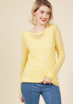 ModCloth Sweetest Subtleties Long Sleeve Top in Sunshine in XS