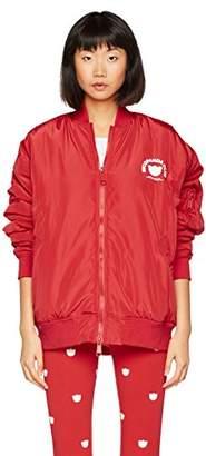 Nicopanda Women's Nicopanda Club Bomber Long Sleeve Bomber Jacket,18 (Manufacturer Size: X-Large)