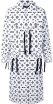 Kokon To Zai monogram printed coat - unisex - Cotton - M