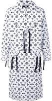 Kokon To Zai monogram printed coat - unisex - Cotton - M
