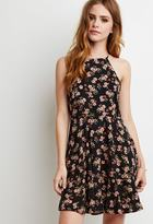 Forever 21 FOREVER 21+ Lace-Paneled Floral Print Dress