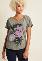 ModCloth Nature's Nuances Graphic T-Shirt in L
