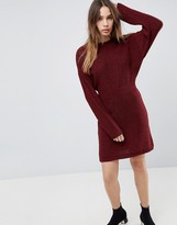 Asos Design Knitted Dress In Batwing