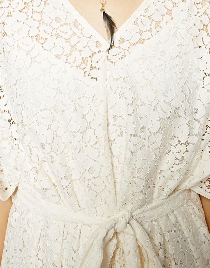 Asos Kimono Dress In Lace