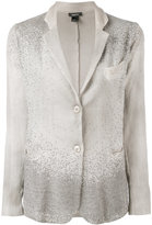 Avant Toi Corda classic blazer - women - Linen/Flax/Cotton/Cashmere/Aluminium - S