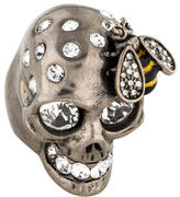 Alexander McQueen Skull & Bee Cocktail Ring