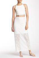 Kensie Crochet Lace Midi Skirt