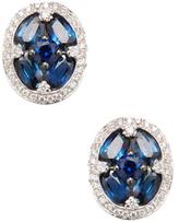 Amrapali 18K White Gold, Blue Sapphire & 0.27 Total Ct. Diamond Stud Earrings