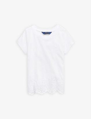 Ralph Lauren Broderie cotton T-shirt 2-14 years