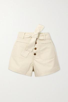 Apiece Apart Marston Belted Denim Shorts - Off-white