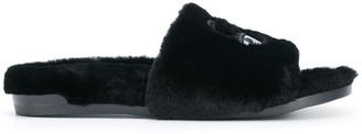 Chiara Ferragni Faux Fur Sliders