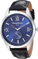 Tommy Bahama Men's Dress Stainless Steel Case and Black Crocodile Embossed Leather Strap Watch (Model:TB00015-06)