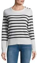 Lord & Taylor Cashmere Button Shoulder Sweater