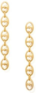 Kate Spade Gold-Tone Link Linear Drop Earrings