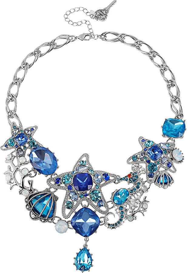 Betsey Johnson Iconic Sea Starfish Gem Necklace