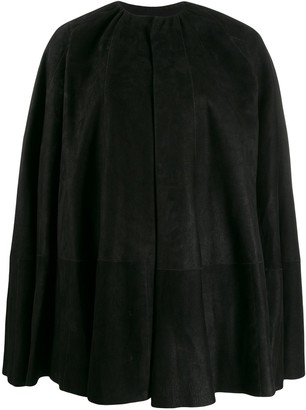 Rick Owens Leather Cape Coat