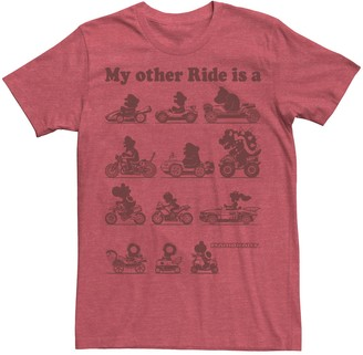 Nintendo Men's Mario Kart Other Rides Red Graphic Tee