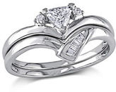 Concerto 0.33CT Fancy-Cut Diamond 14K White Gold Bridal Set
