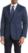 English Laundry Indigo Garment Washed Two Button Notch Lapel Sport Coat