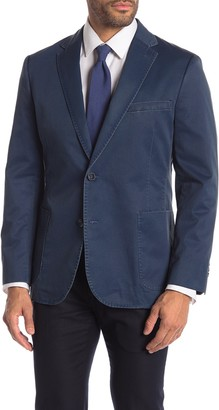 English Laundry Indigo Garment Washed Two Button Notch Lapel Sport Coat